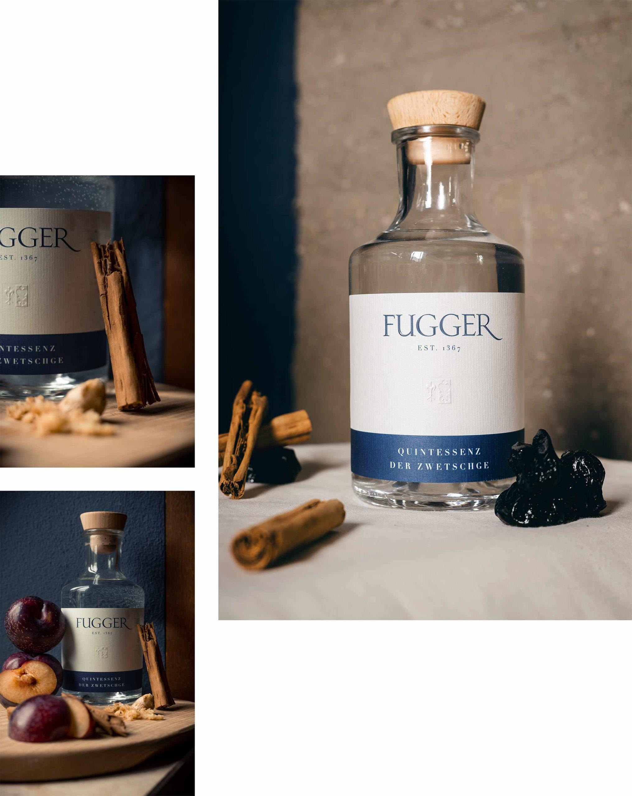 fugger destillate augsburg label design spirituosen blockundstift zwetschge