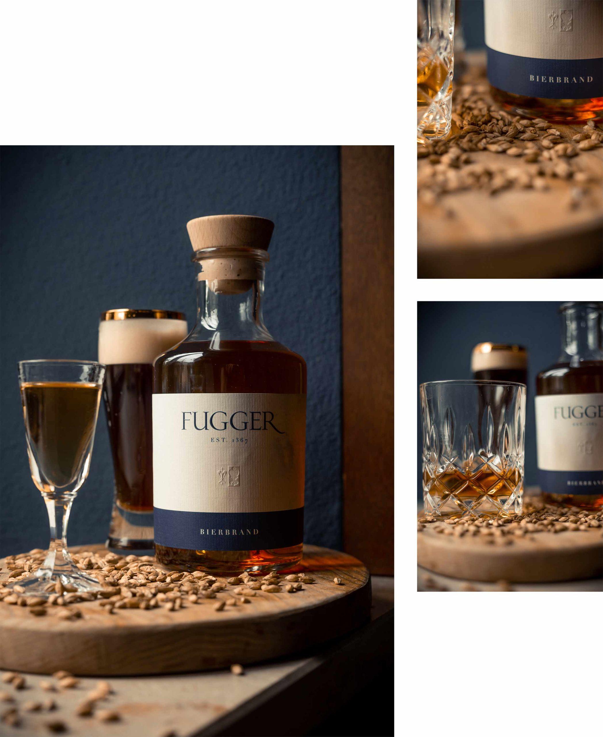 fugger destillate augsburg label design spirituosen blockundstift Bierbrand Produkte