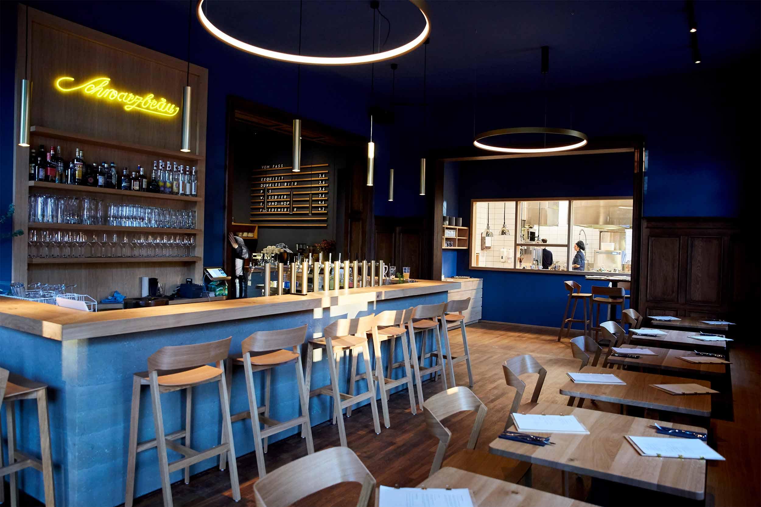 Blaue Kappe Essen und Trinken Augsburg Corporate Design und Website – Bar