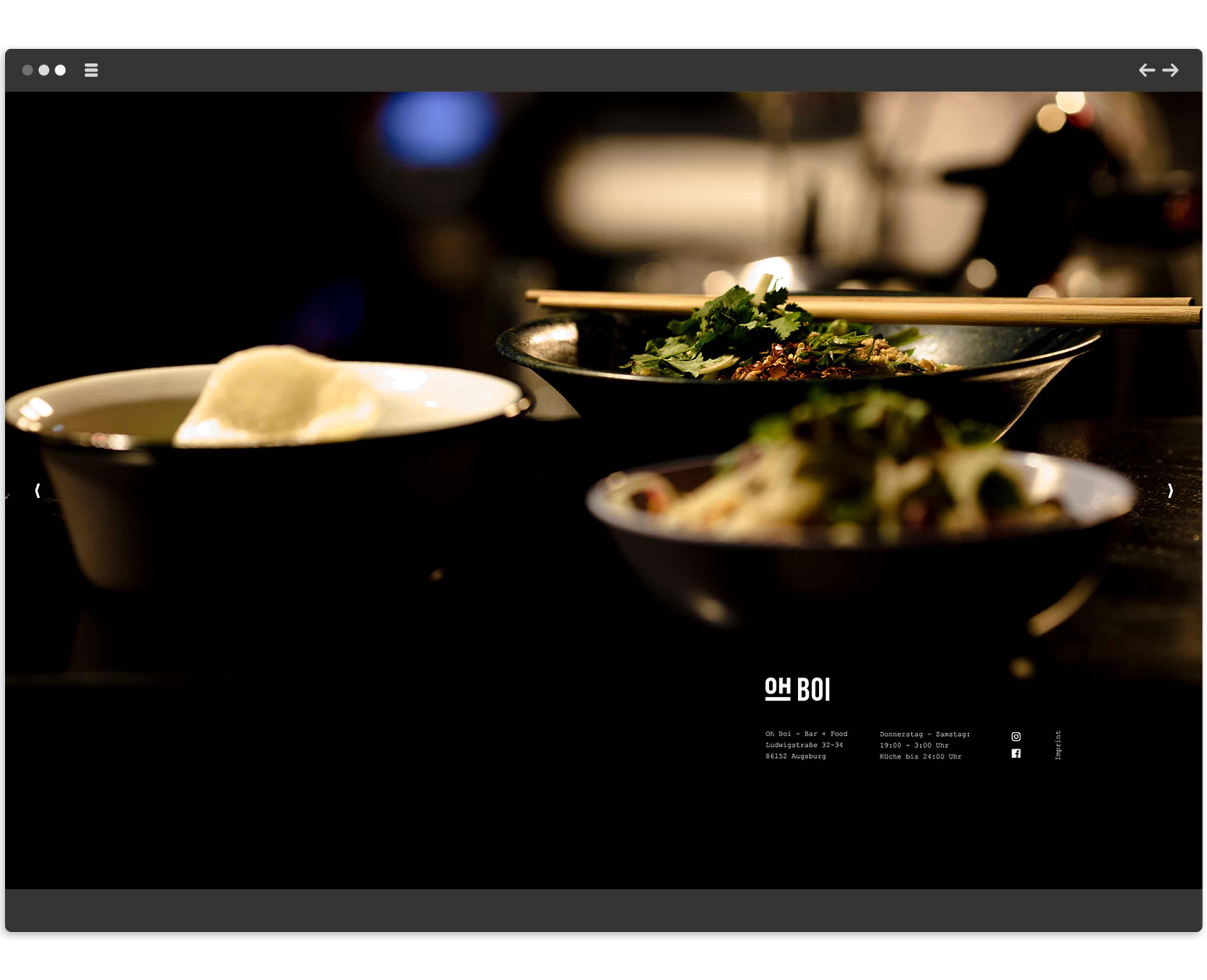 Oh Boi Augsburg – Logo und Website – Screendesign