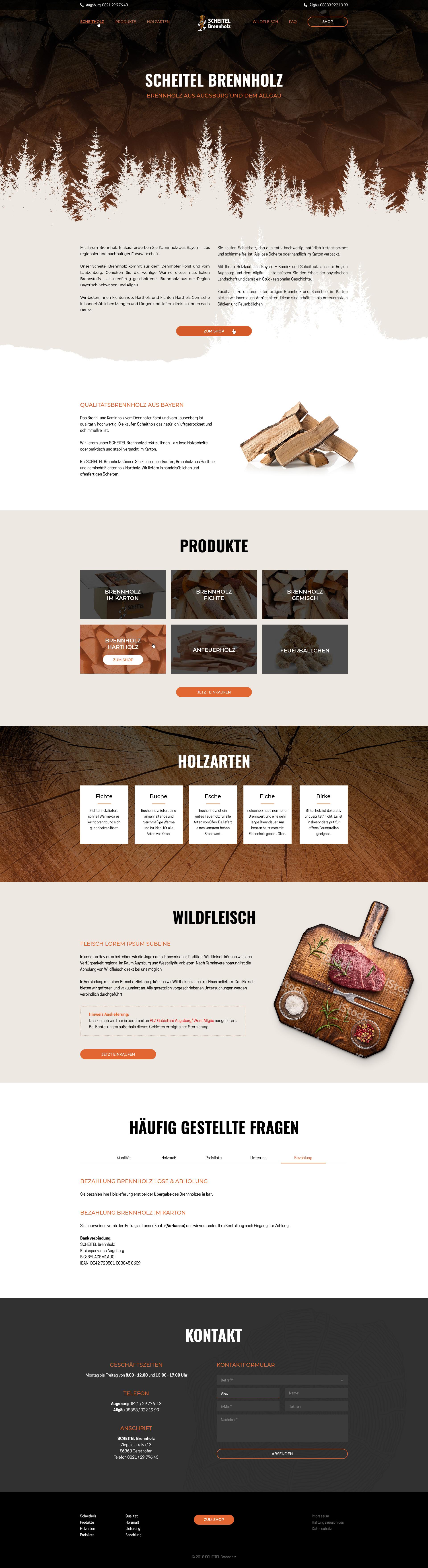 Screendesign Scheitel Webshop